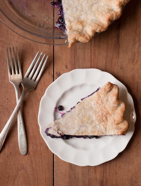 Mary Blenk's prize-winning blueberry pie.
