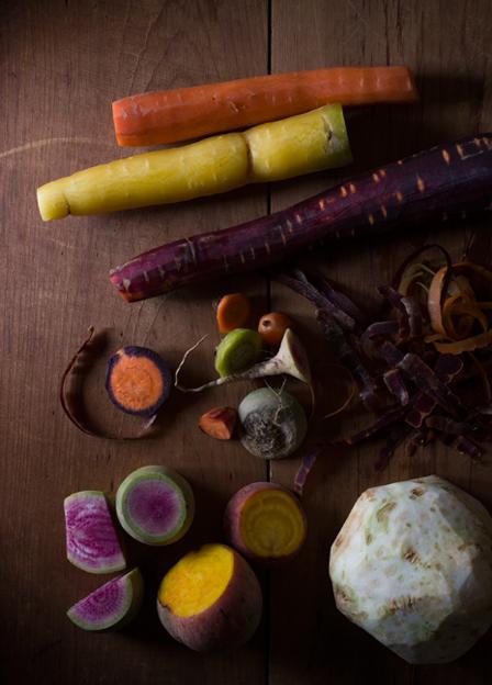 peeled veggies